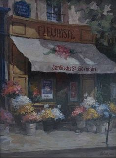 "Fleurs St. Germain by George Botich 16' x 12"" oil Meyer Gallery"