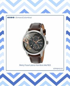 d0cf921fbd3e Reloj Fossil para hombre ME1163 Townsman automático con correa de cuero