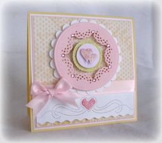 use a corner punch on the INNER edge of a circle, Fun tutorial and idea! Scrapbooking, Scrapbook Cards, Kids Cards, Baby Cards, Card Making Inspiration, Making Ideas, Ankle Tattoos, White Tattoos, Cat Tattoos