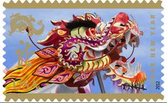 Year of the Dragon stamp by USPS