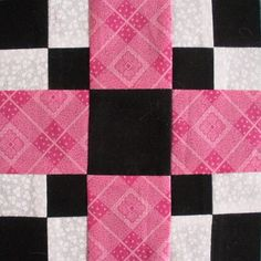 Black and Pink Quilt Patterns | Found on blocksnswaps.blogspot.com