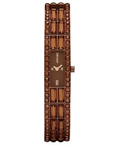 DKNY Watch, Women's Brown Ion Plated Stainless Steel Bracelet 13x33mm NY8632 - All Watches - Jewelry & Watches - Macy's