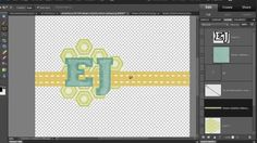 Create an embellishment cluster in Photoshop Elements