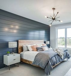 This is a Bedroom Interior Design Ideas. House is a private bedroom and is usually hidden from our guests. However, it is important to her, not only for comfort but also style. Much of our bedroom … Master Bedroom Design, Home Decor Bedroom, Modern Bedroom, Bedroom Designs, Teen Bedroom, Blue Master Bedroom, Bedroom Rustic, Master Bedrooms, Bedroom With Blue Walls