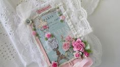 Mixed Media Lace Book French Journal Travel by underthenightmoon, $12.50
