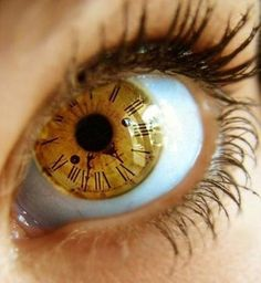 Clock-shaped contact lenses (whoa)