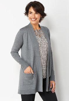 f7f7b980 Button Cuff Cardigan Buttons, Sweaters, Womens Fashion, Stylish Tops,  Pants, Jackets