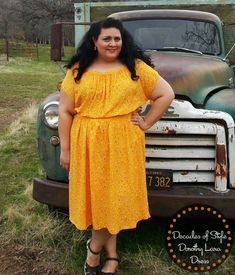 Decades of Style 1940's Dorothy Lara Dress in vintage 1940's cold rayon