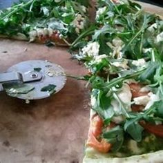 "Goat Cheese Arugula Pizza - No Red Sauce! I ""I LOVE arugula, goat cheese and garlic. Followed it EXACTLY with phenomenal results!!"""