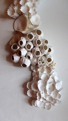 "Stunning paper cut art by Julie Dodd, ""Coral Colony"", My Favorite, Art Sculpture, Wall Sculptures, Paper Sculptures, Sculpture Ideas, Ceramic Wall Art, Ceramic Pottery, Pintura Coral, Coral Art, Paperclay"