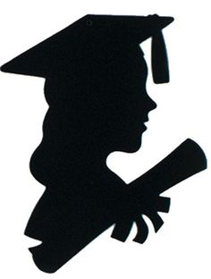 girl graduate silhouette | Get Your Girl Graduate Silhouette 12in - Caufields.com