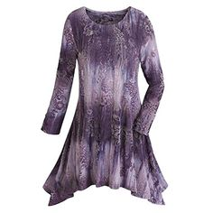Womens Tunic Top  Plum Purple Velvet Burnout Shirt  1X * Details can be found by clicking on the image.