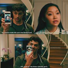 To All the Boys I've Loved Before scene was really cute Lara Jean, Cute Relationship Goals, Cute Relationships, Cute Couples Goals, Couple Goals, Love Movie, Movie Tv, Cute Movie Scenes, Chick Flicks