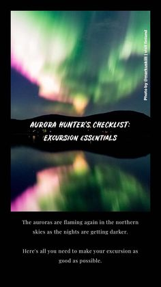 Have you crossed the Northern Lights off your bucket list yet? This article covers all the basics: where to go, when, how to follow forecasts, what to wear and what to pack. A bit of planning will increase your chances of seeing auroras and ensure a good time! See The Northern Lights, What To Pack, Winter Activities, Aurora Borealis, Where To Go, Finland, Bucket, Make It Yourself