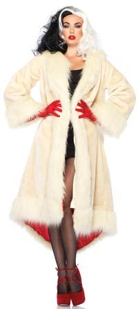 Fur Coat Cruella Adult Costume - Disney Costumes
