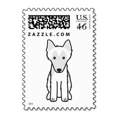 Belgian Sheepdog Dog Cartoon Postage