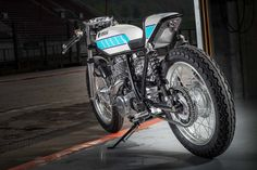 Yamaha SR400 Cafe Racer Supercharged - Tribute to Bernard Ansiau - KRUGGER #motorcycles #caferacer #motos | caferacerpasion.com