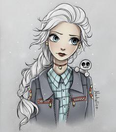 Modern Elsa by natalico.deviantart.com on @DeviantArt