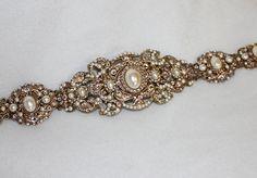Custom made wedding sash by Anoni jewellery / Etsy