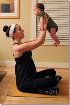 Exercise with baby. Even though my boys are a 14 months apart I can still manage some of these moves...one at a time of course!!!