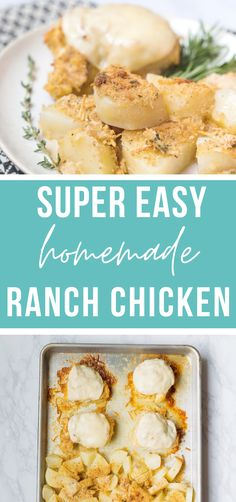 This homemade ranch chicken and potatoes is such an easy & delicious freezer meal. Not to mention kid friendly!! This will be a new family fav! #easy #makeahead #kidfriendly #freezermeals #chickenranch | happymoneysaver.com Vegetarian Freezer Meals, Chicken Freezer Meals, Freezer Friendly Meals, Healthy Freezer Meals, Frugal Meals, Freezer Recipes, Meal Calendar, No Dairy Recipes, Healthy Recipes