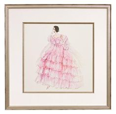 In the Pink Framed Fashion Barbie Print