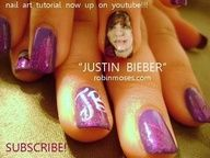 Justin Bieber Nails!! cute-nail-designs