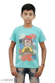Tshirts & Polos Elegant Cotton Knitted Boy's T-shirt  *Fabric* Cotton Knitted  *Sleeves* Half Sleeves Are Included  *Size* Age Group (2 - 3 Years) - 20 in Age Group (3 - 4 Years) - 22 in Age Group (5 - 6 Years) - 24 in Age Group (7 - 8 Years) - 26 in Age Group (9 - 10 Years) - 28 in Age Group (10 - 11 Years) - 30 in Age Group (11 - 12 Years) - 32 in Age Group (12 - 13 Years) - 34 in  *Type* Stitched  *Description* It Has  Piece Of Boy's T-shirt  *Work* Printed  *Sizes Available* 2-3 Years, 3-4 Years, 5-6 Years, 7-8 Years, 8-9 Years, 9-10 Years, 10-11 Years, 11-12 Years, 12-13 Years *    Catalog Name: Stylo Bug Amazing Cotton Knitted Boy's T-shirts Vol 4 CatalogID_127840 C59-SC1173 Code: 091-1050166-