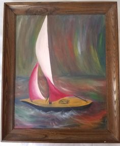 Impressionism Seascape original oil painting on Board Signed #Impressionism