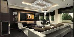 Luxury Living Room Interior of Penthouse Apartment Apartment Interior Design, Interior Design Studio, Luxury Interior Design, Room Interior, Interior Design Living Room, Living Room Designs, Modern Interior, Cool Apartments, Luxury Apartments