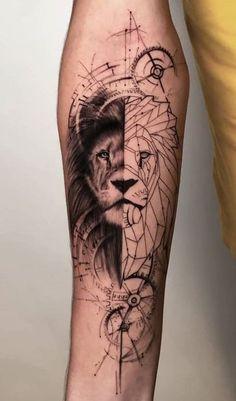 Wolf Tattoos, Hand Tattoos, Lion Hand Tattoo, Lion Forearm Tattoos, Lion Tattoo Sleeves, Mens Lion Tattoo, Cute Tattoos, Body Art Tattoos, Sleeve Tattoos