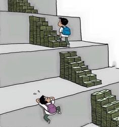 Education system everywhere in the world. Respect for climbers and strugglers