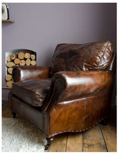Leather chair for sitting room... My chair all men need a chair thats theirs