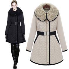 2015 New Women Winter Jacket Cotton Padded Long Famale Parka Big Faux Fur Collar Fashion Brand Coat Zipper Overcoat Outwear BELT-in Down & Parkas from Women's Clothing & Accessories on Aliexpress.com | Alibaba Group US $50