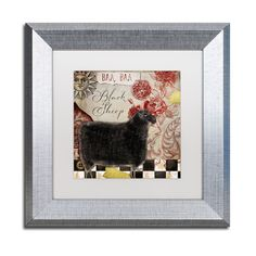 Color Bakery 'Baa Baa Black Sheep' Matted Framed Art
