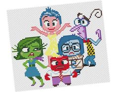 Looking for your next project? You're going to love   INSIDE OUT  #Cross #stitch #Pattern  by designer POWSTITCH.