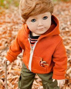American Girl Boy Doll Clothes  Hoodie Sweatshirt by Minipparel, $15.00