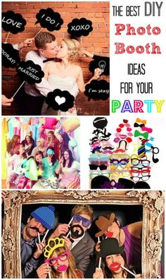 The Best DIY Photo Booth Ideas for your Party This would be such a fun party activity. Photos Booth, Diy Photo Booth, Wedding Photo Booth, Decor Photobooth, 18th Birthday Party, Party Props, Party Ideas, Party Entertainment, Grad Parties