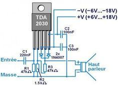 icu ~ ampli a 1 Electronics Projects, Simple Electronics, Hobby Electronics, Valve Amplifier, Audio Amplifier, Audio Hifi, Electronic Circuit Design, Sony Led, Circuit Board Design