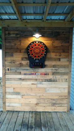 Dart board wall