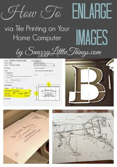 How To Enlarge Images Via Tile Printing On Your Home ComputerTutorial ... for enlarging graphic images to transfer onto furniture, fabric, etc.