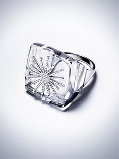 POWER RING DIAMOND | ROCK CRYSTAL |18K WHITE GOLD.    $18,500