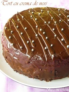 Chocolate cake with cream coffee Nescafe, My Recipes, Chocolate Cake, Tiramisu, Biscuits, Deserts, Pudding, Sweets, Cream