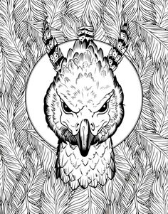 Creatures-Colouring-Book.gif (391×500) Harry Potter Coloring Pages, Disney Coloring Pages, Colouring Pages, Adult Coloring Pages, Coloring Books, Harry Potter Colors, Harry Potter Artwork, Theme Harry Potter, Harry Potter Images