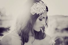 cool hair pieces and bouquets