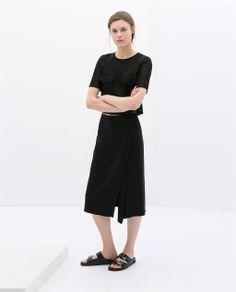 ZARA - WOMAN - STUDIO SKIRT WITH FRONT SLIT