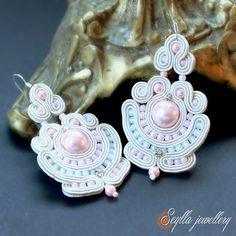 Seylla jewellery Sutasz soutache wedding ecru ślub