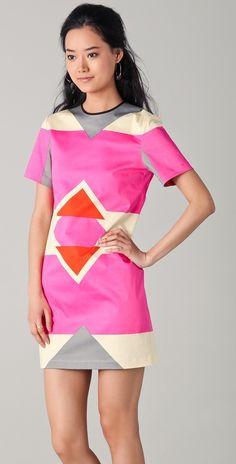 10 Crosby Derek Lam Short Sleeve Graphic Print Dress