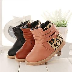 schoenen meisjes troosten platte hak lederen enkellaars met rits meer kleuren beschikbaar – EUR € 19.76