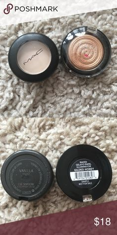 Mac and Laura geller bundle! Mac eyeshadow and mini guilted honey highlighter!💋free shipping and a discount if you use PAYPALL💋 MAC Cosmetics Makeup Luminizer